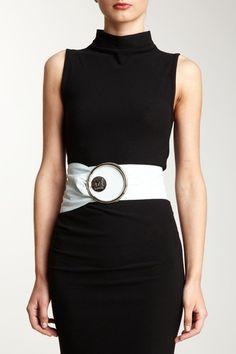 M Missoni Wide Leather Belt
