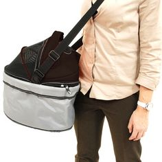Bike Pet Carrier Black Silver, now featured on Fab.