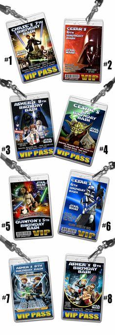 Star Wars Birthday invitation 12 VIP style by FancyThisParty, $24.00