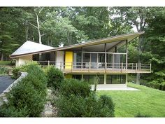 New Canaan house designed by Jim Evans in 1960. #architecture #modern #contemporary #design #60s #1960s #vintage #retro