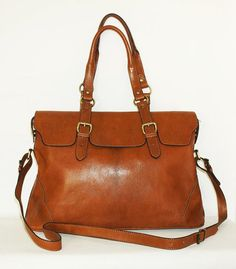Caramel Leather Tote Shoulder Crossbody Bag Johanna by chicleather
