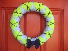 Argyle and Bow Tie Baby Boy Wreath by FromOurHouseWithLove on Etsy, $35.00