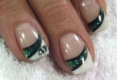 Saskatchewan Roughriders manicure - Google Search Gorgeous Nails, Love Nails, My Nails, Square Gel Nails, Saskatchewan Roughriders, Spring Nail Art, Nail Decals, Crafts For Girls, Beauty Industry