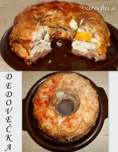 Dedovečka (fotorecept) Czech Recipes, Ethnic Recipes, Doughnut, Poultry, Baked Potato, French Toast, Food And Drink, Cooking Recipes, Bread