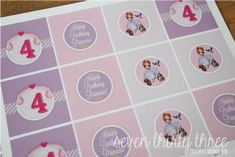 seven thirty three - - - a creative blog: Sofia the First cupcake toppers!