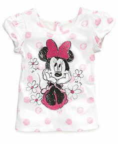 Disney Little Girls' Minnie Mouse Flower Tee.  LOVE!