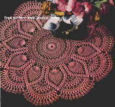 Pink Pineapple Doily    Doilies, Doilies, Doilies  Star Doily Book No. 87  American Yarn Company  1951