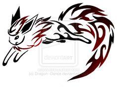 Tribal Flareon Tattoo by DansuDragon.deviantart.com on @deviantART