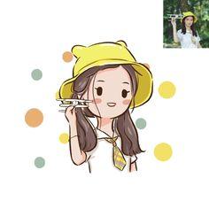 Cute Cartoon Faces, Cute Cartoon Drawings, Cute Kawaii Drawings, Anime Drawings Sketches, Cartoon Art Styles, Chibi Characters, Cute Characters, Cute Illustration, Character Illustration