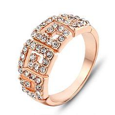 Aliexpress.com: Comprar Venta al por mayor Silveren boda joyería Charm Christmas Party regalo de cristal austriaco elaborar Yellow Rose anillo chapado en oro #SI0736 de regalo de la salud fiable proveedores en Silveren Jewelry