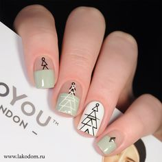 You should stay up to date with the latest nail art designs, nail paints, acrylic nails. Nail Manicure, Diy Nails, Cute Nails, Holiday Nails, Christmas Nails, Green Christmas, Christmas Ideas, Colorful Nail Designs, Nail Art Designs