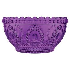 Baci Baroque & Rock Salad Bowl, Purple