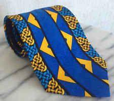 Rush Limbaugh No Boundaries Collection Silk Luxury Neck Tie Vtg Braid Blue USA