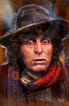 Fourth Doctor by jonpinto.deviantart.com on @DeviantArt