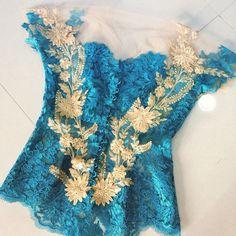 Kebaya modifikasi Kebaya Lace, Kebaya Brokat, Model Kebaya, Womens Fashion, Charms, Inspiration, Collection, Dresses, Vestidos