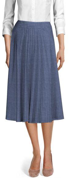Women's Custom Skirts Linen Skirt, Casual Skirts, Blazers For Women, Ladies Dress Design, Blazer Suit, Custom Made, Work Wear, Midi Skirt, Chic