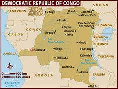 This is a map of The Democratic Republic of the Congo.
