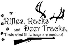 Rifles Racks & Deer tracks vinyl wall decal by iVinyl on Etsy