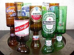 Beer bottle goblets!