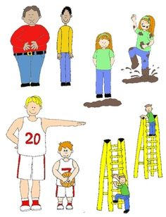 Kids in Action:  Opposites Clip Art 56 PNGs