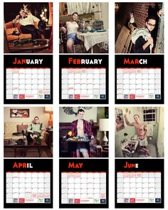 Kat Daddy- Pin Up Men and Cats 2013 Cat Rescue Wall Calendar. $20.00, via Etsy.