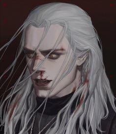 The Witcher Geralt, Witcher Art, Fantasy Character Design, Character Inspiration, Character Art, Dark Fantasy Art, Fantasy Artwork, Witcher Wallpaper, Vampire Art
