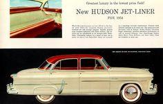 "imperialgoogie: "" allamericanclassic: "" 1954 Hudson Jet-Liner 4-Door Sedan "" Here's one Jet-Liner that never really took off. """