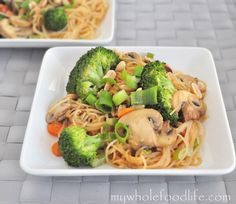 Peanut Noodle Stir Fry. Be sure to use Bragg's Liquid Aminos or tamari instead of soy sauce to make this gluten-free.