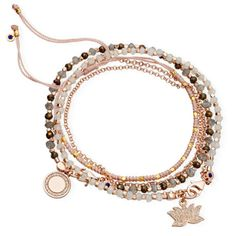 Astley Clarke Cosmic Love Bracelet Stack in Pink
