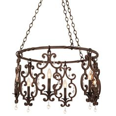 Shop for Montgomery 6 Light Chandelier. Get free delivery On EVERYTHING* Overstock - Your Online Ceiling Lighting Store! Get in rewards with Club O! Candle Chandelier, Candelabra Bulbs, Chandelier Lighting, Cabin Lighting, Kitchen Chandelier, Vintage Iron, Discount Lighting, Vanity Lighting, Antique Copper