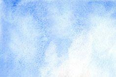 Watercolo blue white sky texture