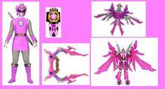 The Ninja Storm Pink Ranger with her Morpher, Sakura Bow, Phoenix Zord and its Sakura Megazord formation Real Power Rangers, Power Rangers Ninja Storm, Power Rangers In Space, Mighty Morphin Power Rangers, Character Inspiration, Character Art, Power Rangers Megazord, Power Rengers, Go Busters