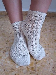 Ravelry: Des Chaussettes Intemporelles - Timeless Lace Socks pattern by Kitalpha The Secret Explorer Knitted Socks Free Pattern, Crochet Mittens, Crochet Slippers, Knitting Patterns Free, Crochet Lace, Easy Knitting, Knitting Socks, Knit Socks, Lace Socks