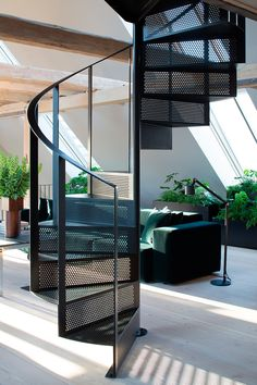 ideas for spiral stairs design architecture Spiral Stairs Design, Spiral Staircase, Staircase Design, Staircase Ideas, Staircase Remodel, Railing Ideas, Staircases, Loft Studio, Loft Stairs