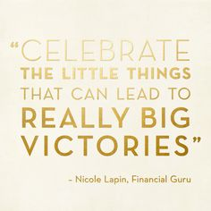 Wise words from our friend (and 💰 expert) Nicole Lapin.