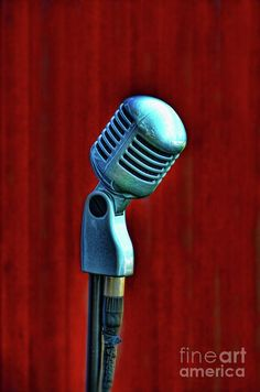Microphone Poster featuring the photograph Microphone by Jill Battaglia
