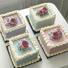 ideas flowers wedding pastel beautiful cakes for 2019 Pretty Cakes, Cute Cakes, Beautiful Cakes, Fancy Cakes, Mini Cakes, Cupcake Cakes, Buttercream Flower Cake, Cake Icing, Buttercream Cake Designs