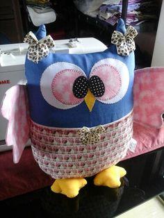 Almofadas decorativas Motivo de coruja  Porta controle remoto