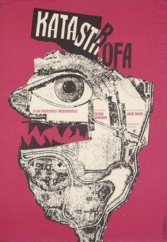 """Roman Cieslewicz - """"KATASTROFA"""", 1961"""