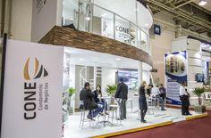 Stand de vendas da Cone para a maior feira de logística do Brasil.