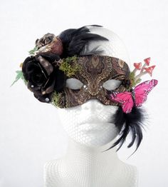 Fairy Tale Dark Woodland Mask by KiranLee on Etsy, £60.00