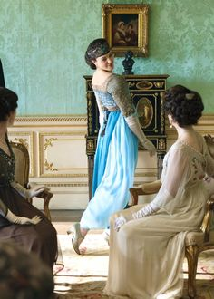 Lady Sybil's shining moment. Downton Abbey. I've tried to resist it....I have failed....