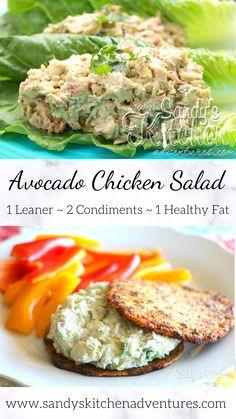 Best Salad Recipes, Chicken Salad Recipes, Avocado Recipes, Real Food Recipes, Cooking Recipes, Healthy Meal Prep, Healthy Snacks, Healthy Eating, Healthy Recipes