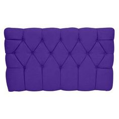 Kidz World Meridia Twin Upholstered Headboard Purple - 1120-1-PURS