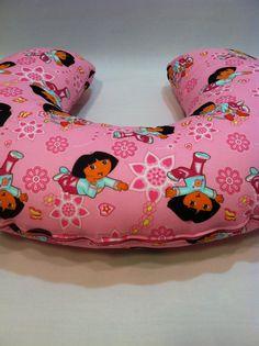Dora the Explorer Nursing Pillow Cover, Breastfeeding, Boppy Cover, Dora, Boots, Pink by CaseysConcoctions on Etsy https://www.etsy.com/listing/263252457/dora-the-explorer-nursing-pillow-cover