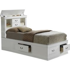 Found it at Wayfair - Corbeil Captain Bed with Storage