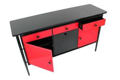 lovely HighGlossHouse red and black sideboard