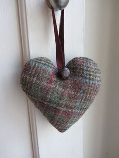 Tweed Heart with Lavender by TheCosyBagCo on Etsy, £7.50