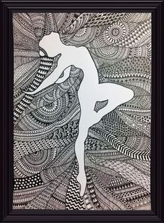 Ideas Design To Draw Easy Fashion Sketches Doodle Art Drawing, Dark Art Drawings, Zentangle Drawings, Mandala Drawing, Pencil Art Drawings, Art Drawings Sketches, Abstract Drawings, Zentangles, Zantangle Art