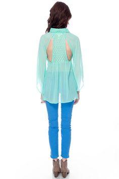 Poppy Lace T-Back Blouse zoompy  $42